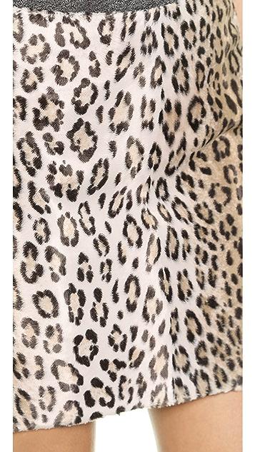 Milly Cheetah Mini Skirt