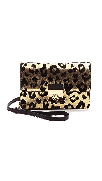 Milly Gold Leopard Mini Cross Body Bag