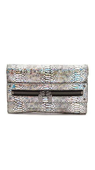 Milly Hologram Python Clutch