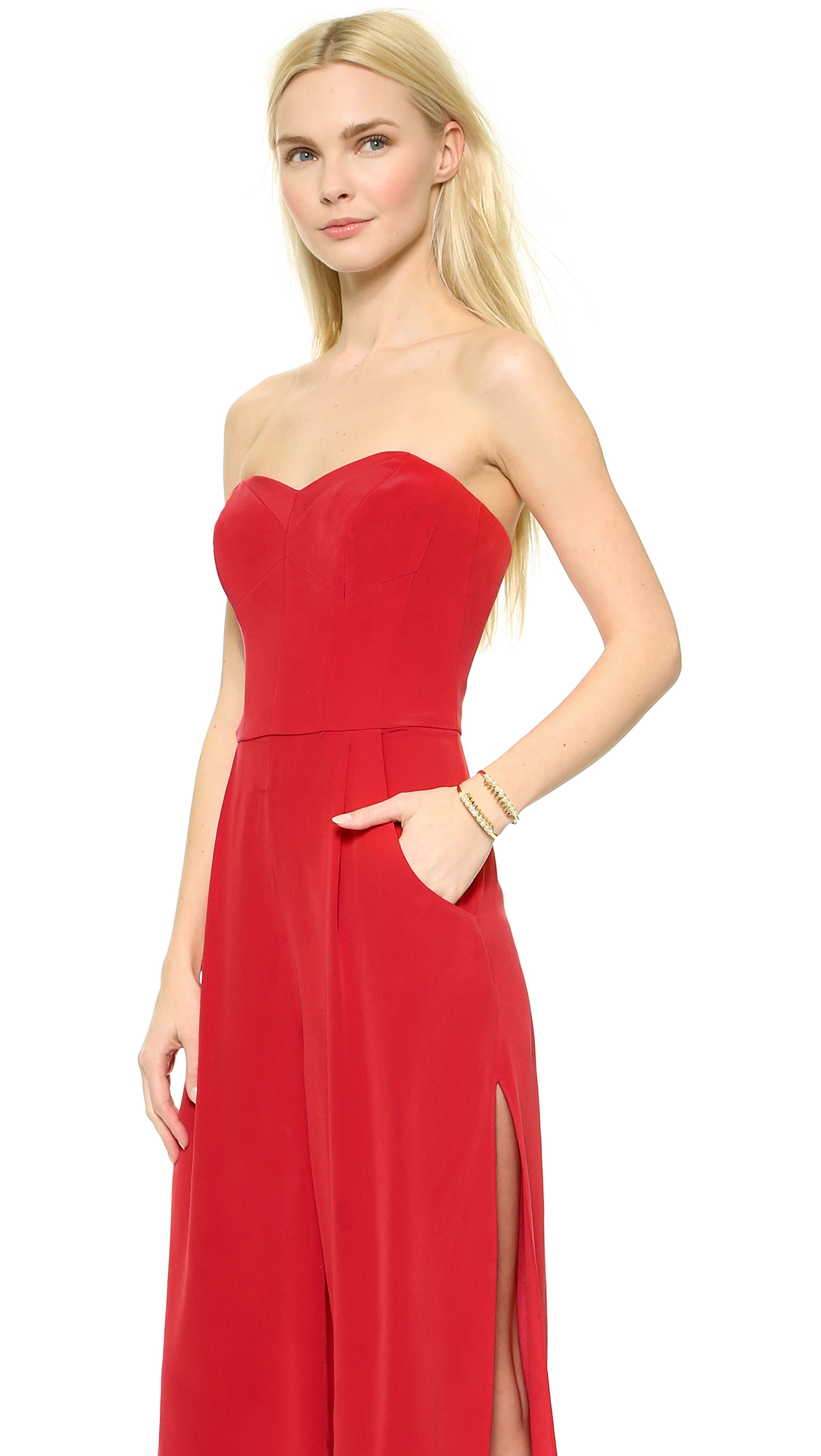 79b225531c9c Milly Strapless Culotte Jumpsuit