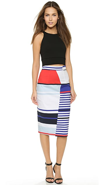 Milly Marina Stripe Skirt