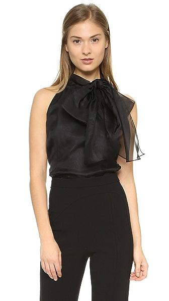 Milly Gwyneth Halter Top - Black