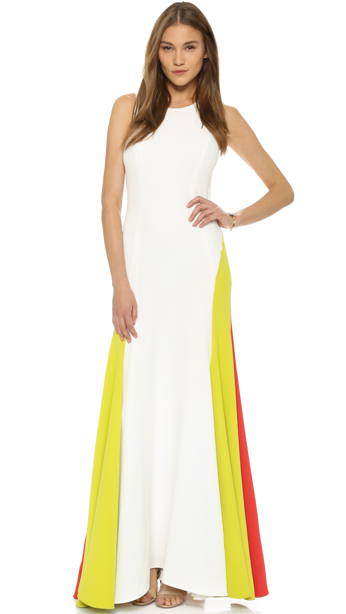 Milly Italian Cady Colorblock Gown | SHOPBOP