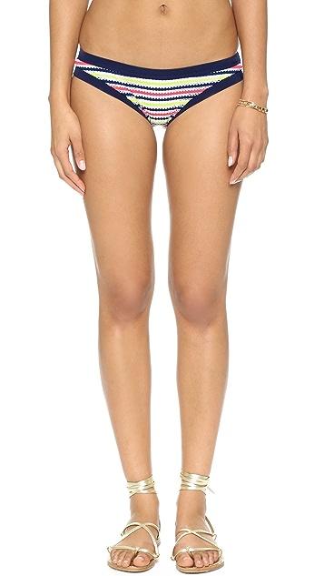 Milly Marina Stripe Bikini Bottoms