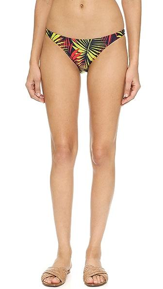 Milly Palm Print Mediterranean Bikini Bottoms