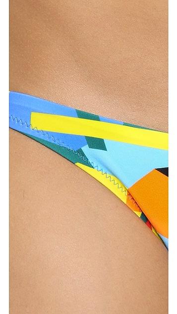 Milly Geo Print Bikini Bottoms