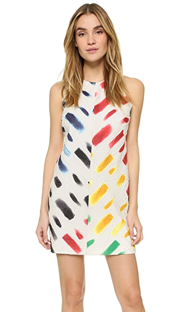 Milly Couture Brushstroke A Line Dress