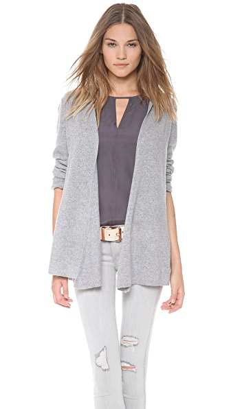 Minnie Rose Cashmere Hooded Cardigan