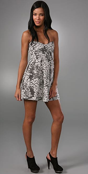 MINKPINK Man Hunt Strapless Dress