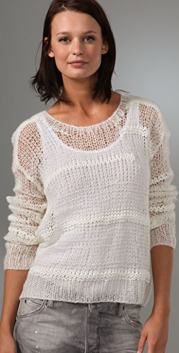 MINKPINK Mess Hall Cropped Sweater