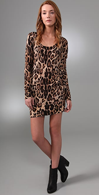 MINKPINK Cheet'n Heart Sweater Dress