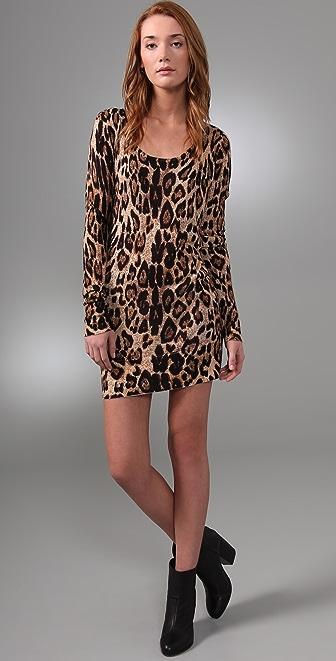 MINKPINK Cheet'n Heart Sweater Dress