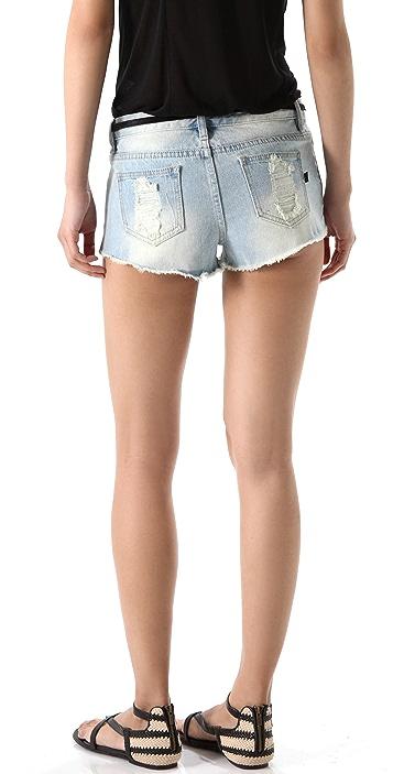 MINKPINK Trailer Slashed Hipster Shorts