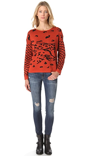 MINKPINK Once a Cheetah Sweater