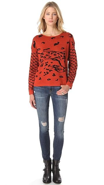 MINKPINK Once a Cheetah Sweater