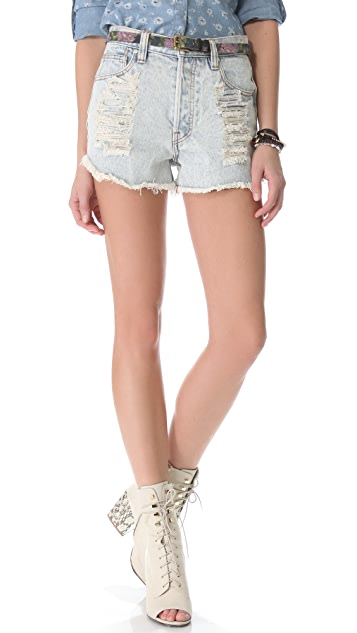 MINKPINK Slasher Flick Acid Washed Shorts