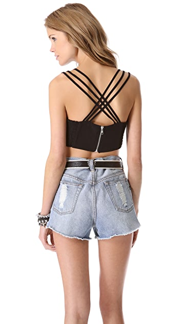 MINKPINK Third Time Lucky Bustier Top