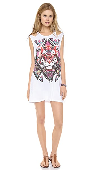 MINKPINK Tiger Tribe Tunic Cover Up