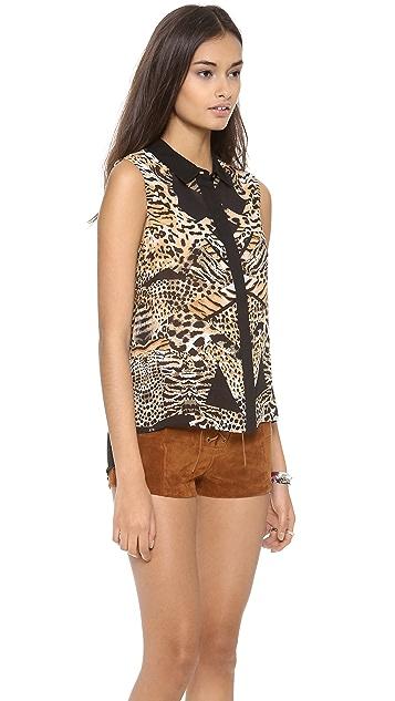 MINKPINK Jungle Jamboree Sleeveless Shirt