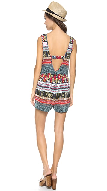 MINKPINK Folk Frenzy Playsuit