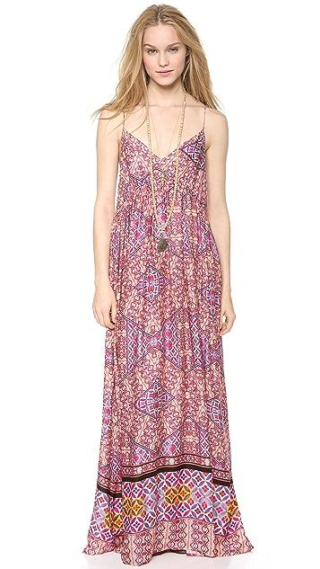 MINKPINK Watercolor Tiles Maxi Dress