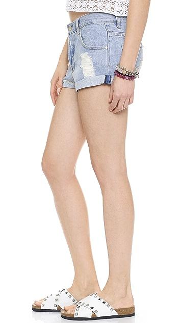 MINKPINK Groupie Blue Shorts