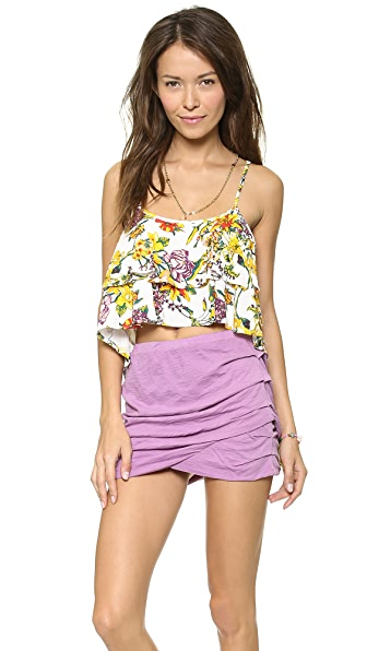MINKPINK Wild Arrangement Layered Frill Top