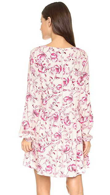 MINKPINK Pretty Poppies Smock Dress