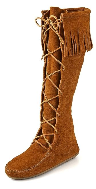 Minnetonka Lace Up Knee High Boots