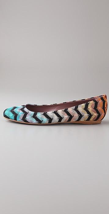 Missoni Large Zigzag Ballet Flats