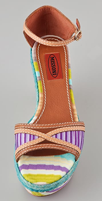 Missoni One Band Flatform Sandals