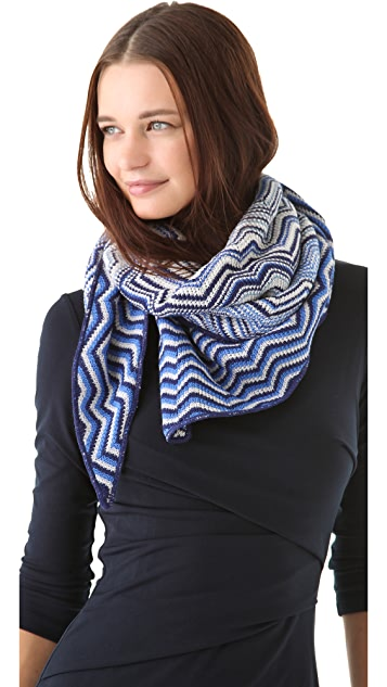 Missoni Zigzag Triangle Scarf