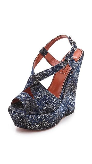 Missoni Wedge Sandals