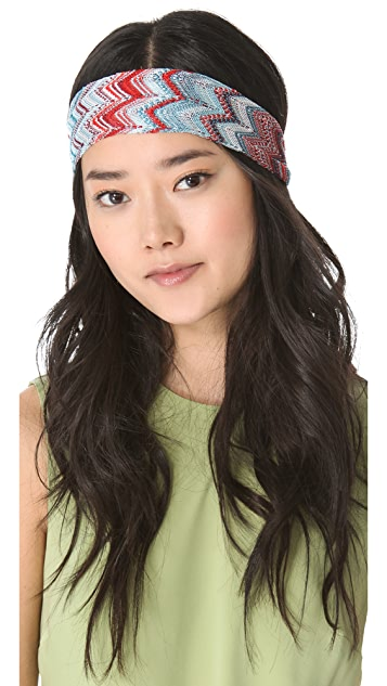 Missoni Mixed Print Headband