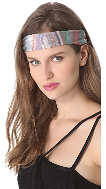 Missoni Geometric Print Lurex Headband
