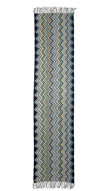 Missoni Chenille Mini Zigzag Scarf
