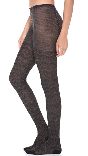 Missoni Shimmer Zigzag Tights