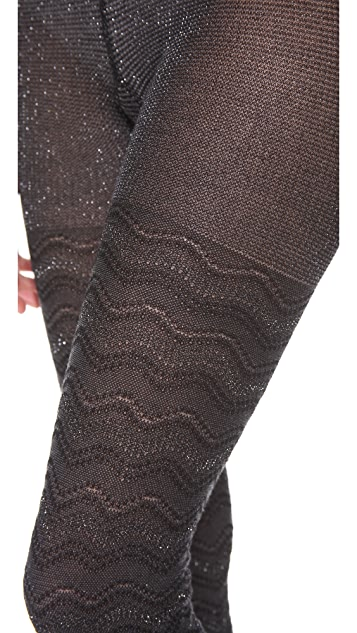 Missoni Shimmer Zigzag Tights