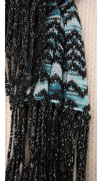 Missoni Striped Zigzag Shimmer Scarf