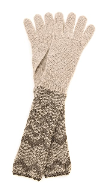 Missoni Woven Chevron Gloves