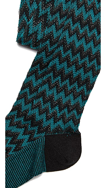 Missoni Thigh High Zigzag Socks