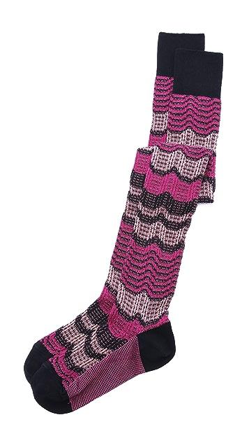Missoni Knit Thigh High Socks