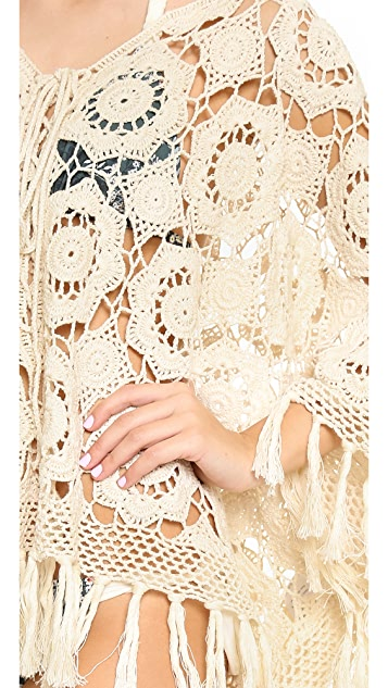 Miss June Crochet Tassel Tunic Cover Up