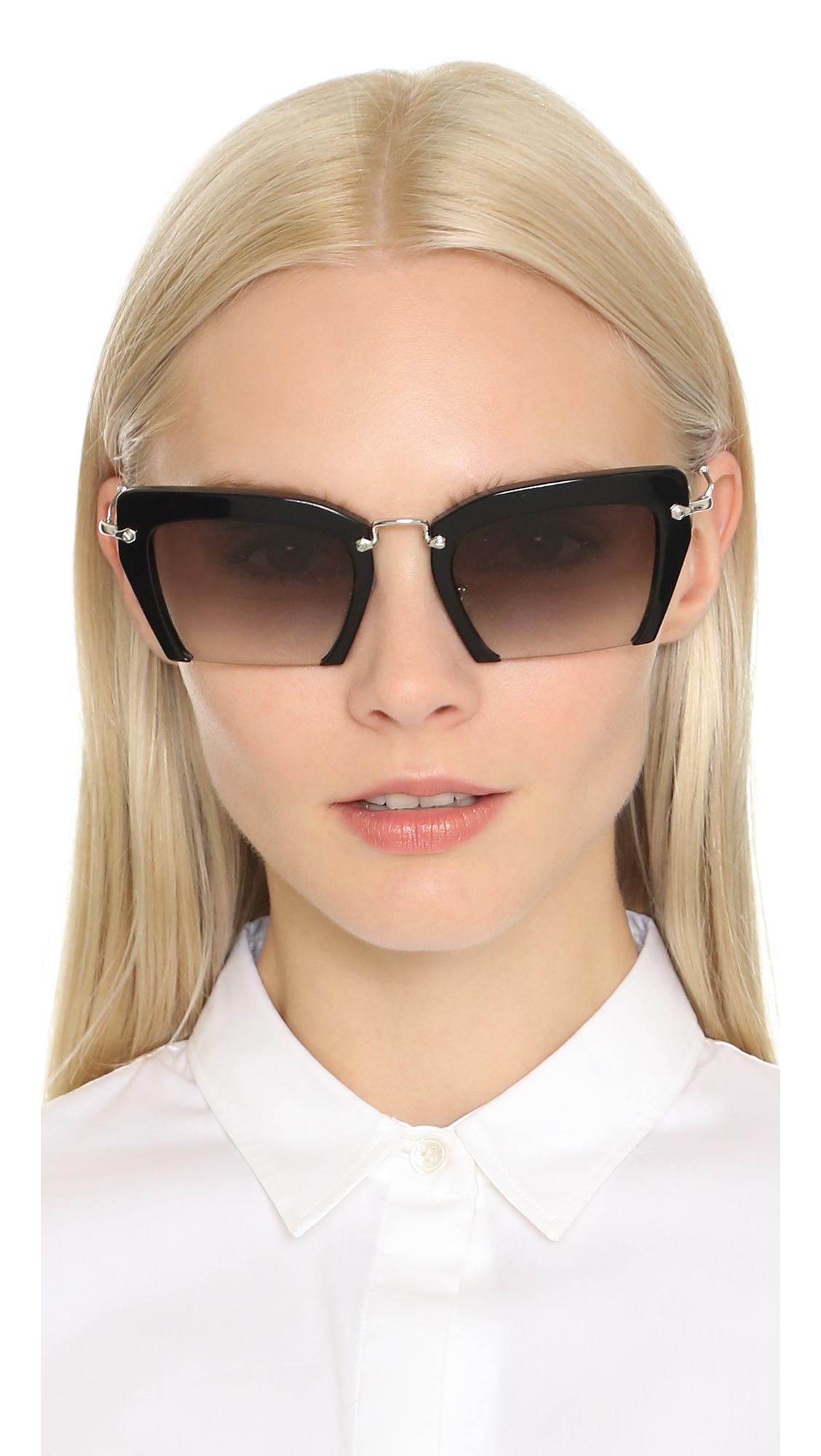 Miu Miu Cut Frame Sunglasses | SHOPBOP
