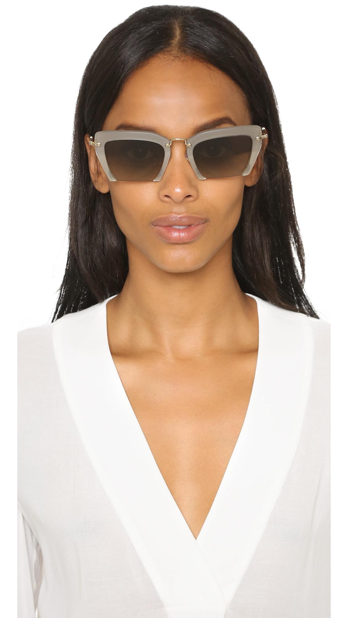 Miu Miu Semi Rimless Eyeglasses