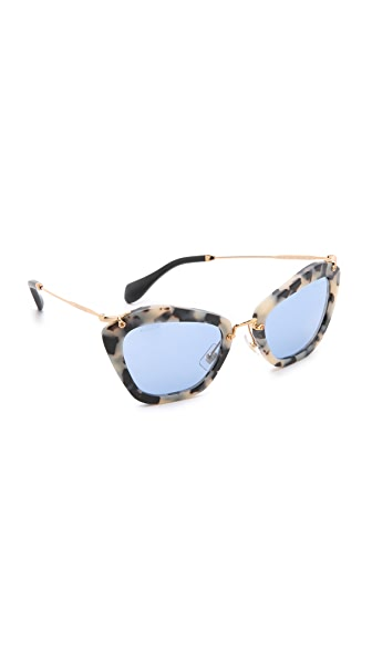 Miu Miu Matte Cat Eye Sunglasses