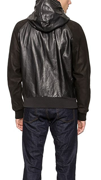 Marc Jacobs Leather Hoodie