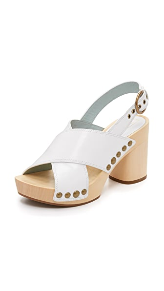 Marc Jacobs Linda Crisscross Sandal Clogs - White