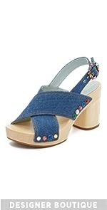 Linda Crisscross Sandal Clogs                Marc Jacobs