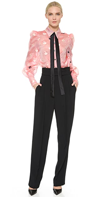 Marc Jacobs Pleated Pants with Tie Waist
